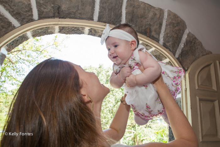 Fotos de Batizado RJ - Alice - Capela Santo Cristo dos Milagres - por Kelly Fontes Fotografia