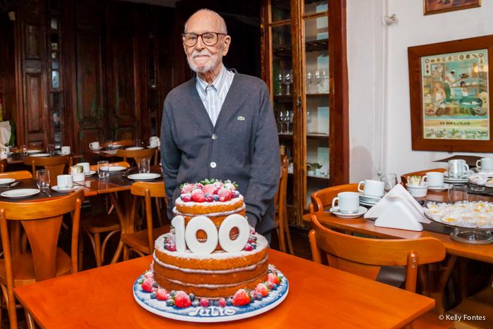 fotografia festa 100 anos rj centenario patriarca foto bolo de aniversário naked cake parabéns