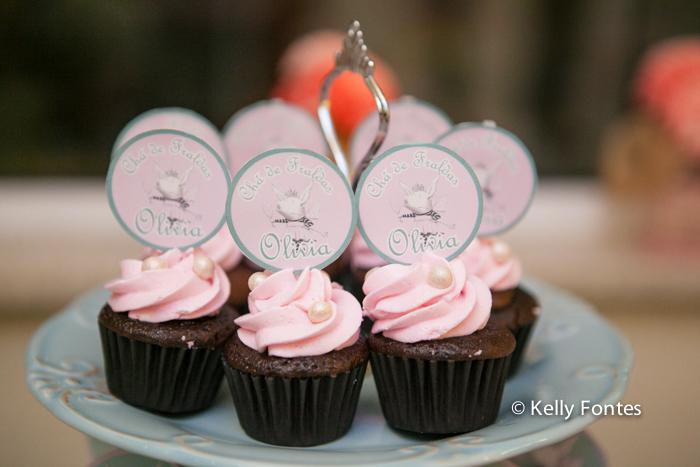 Foto cha de bebe RJ cupcake cor de rosa tema porquinho porquinha rosa fralda