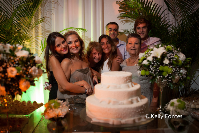 Fotografia festa de aniversário RJ 50 anos Raquel e família STVIP espaço de eventos mesa do bolo
