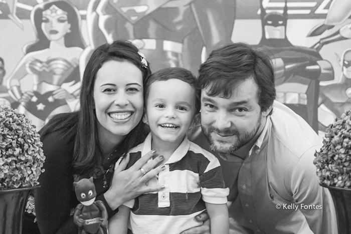 Foto festa infantil RJ Liga da Justiça por Kelly Fontes Fotografia criança pais familia