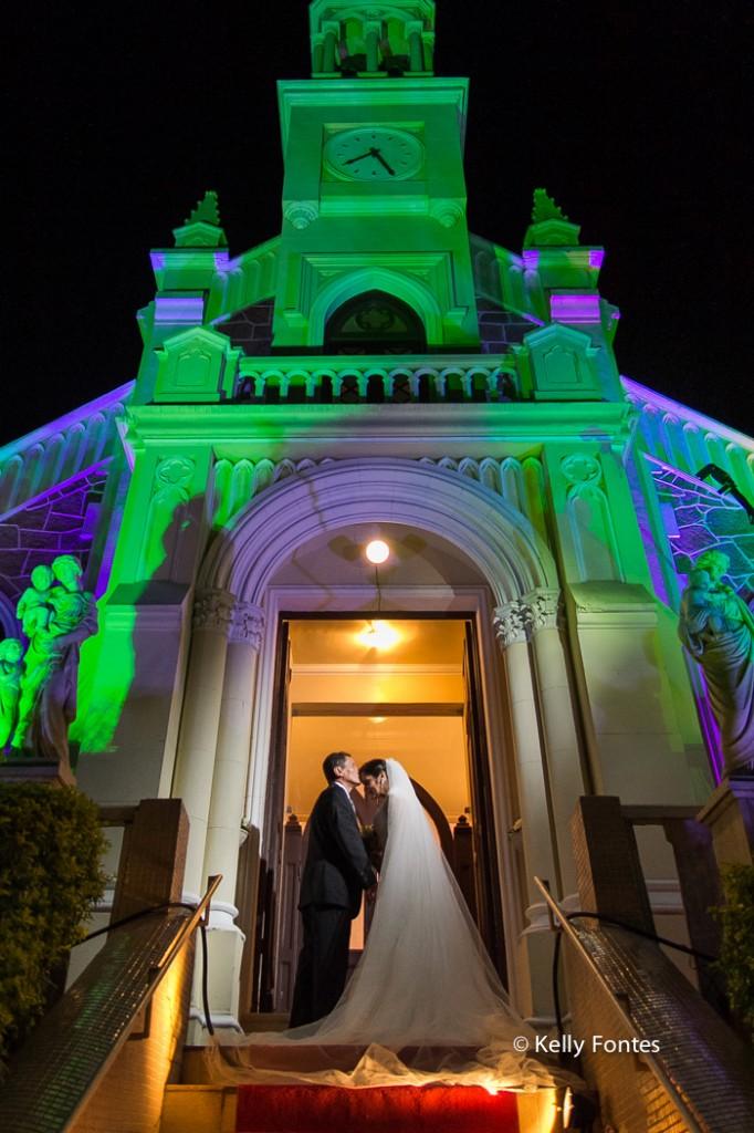 Fotografia Casamento RJ noiva com o pai Igreja Nossa Senhora das Gracas Capela Botafogo por Kelly Fontes