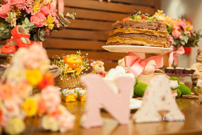 fotos cha de bebe RJ cha de fraldas Ana Clara decoracao mesa do bolo