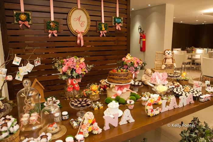 fotos cha de bebe RJ cha de fraldas Ana Clara decoracao mesa do bolo naked cake