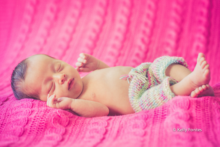 Fotografia Newborn RJ por Kelly Fontes fotos bebe recem nascido menina rosa