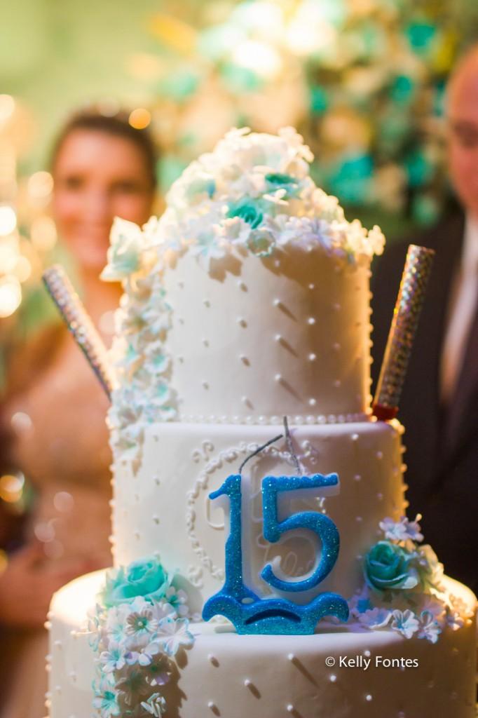 Fotos festa de 15 anos RJ fotografia debutante bolo e vela Book por Kelly Fontes