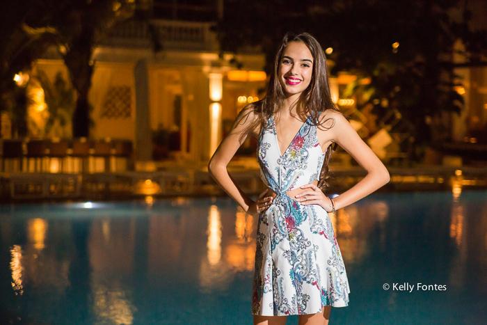 Book 15 anos RJ piscina Copacabana Palace Rio de Janeiro Ensaio de fotos debutante por Kelly Fontes