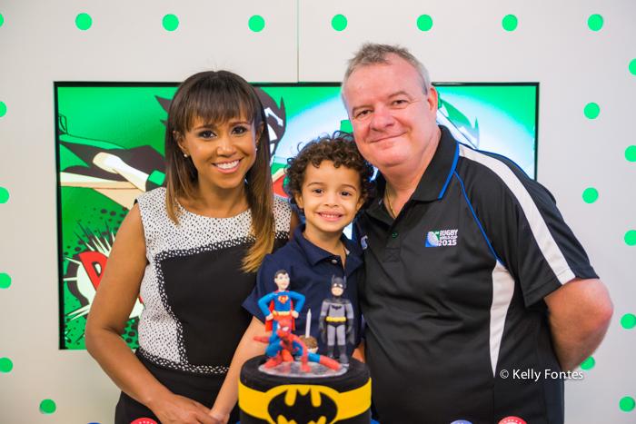 Fotografia Festa Infantil RJ Animason Botafogo com os pais familia liga da justica super homem aranha batman por Kelly Fontes