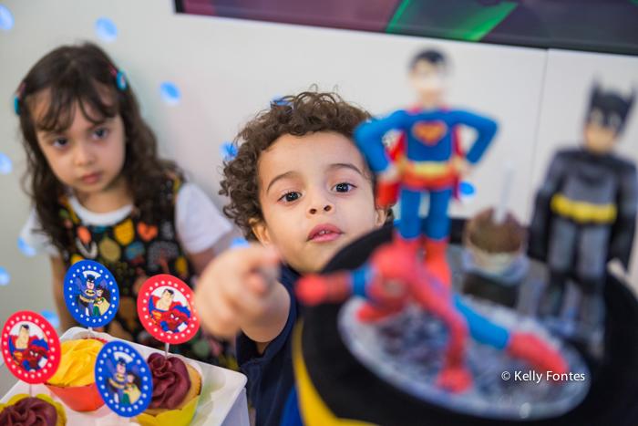 Fotografia Festa Infantil RJ Animason Botafogo bolo liga da justica super homem aranha batman por Kelly Fontes