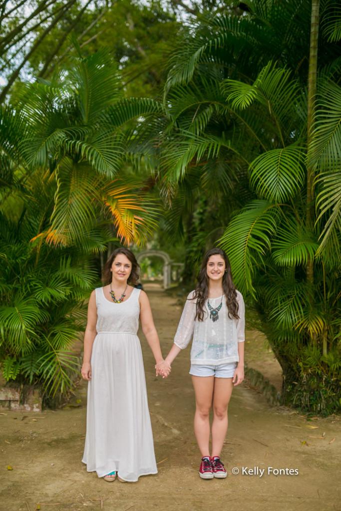 Book 15 anos RJ Luisa ensaio debutante com a família mãe jardim botanico