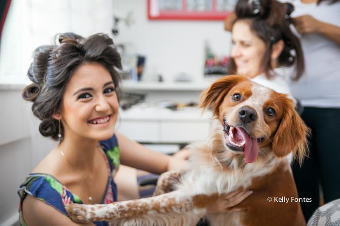 Fotografia festa 15 anos making of make pet cão rio de janeiro RJ Kelly Fontes