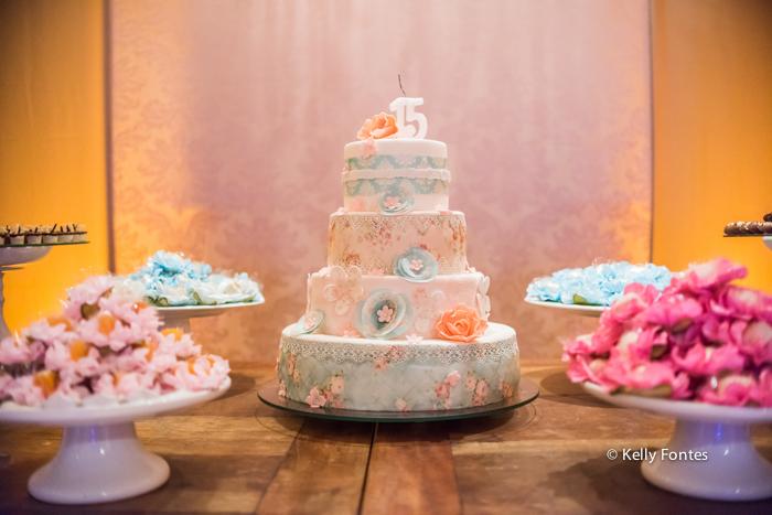 Foto bolo festa 15 anos debutante rio de janeiro RJ Kelly Fontes