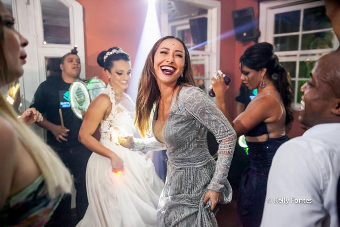 fotografia de casamento rj pista de danca dos noivos na quinta do chapeco com Sabrina Sato