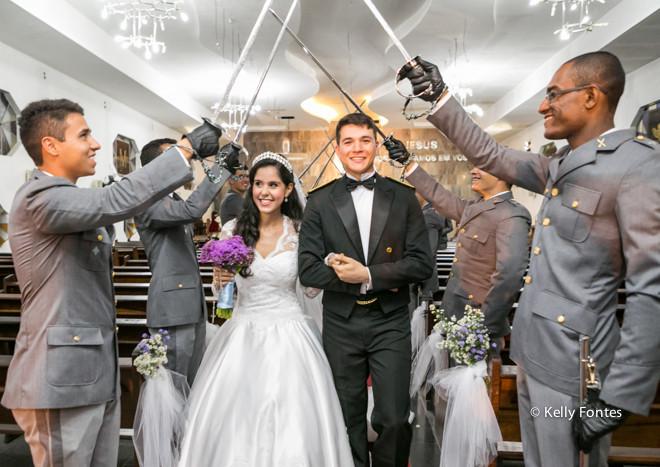 Fotos Casamento Militar RJ – Bruna e Rafael – Igreja Divina Misericórdia – Teto de Aço