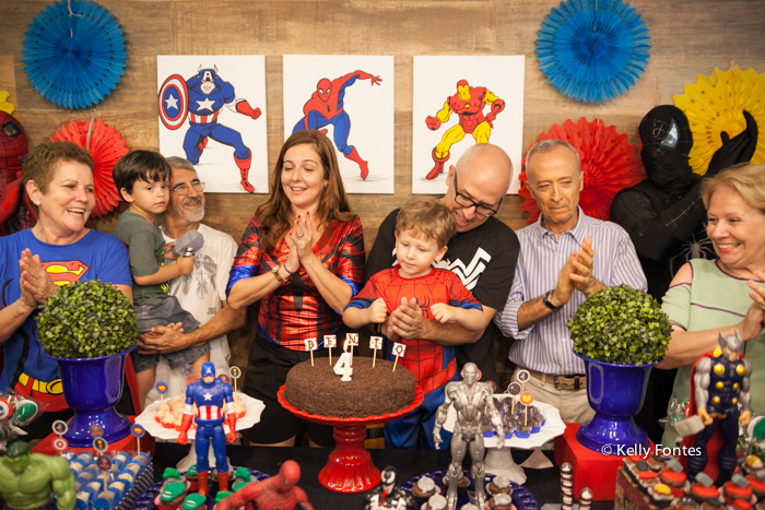 fotografia festa infantil rj parabéns feliz aniversário homem aranha 4 anos casa de festas aldeia barra