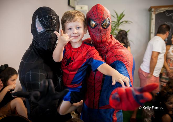 Fotos Festa Infantil 4 anos Bento – Homem Aranha – Espaço Aldeia Joá – Barra da Tijuca – RJ